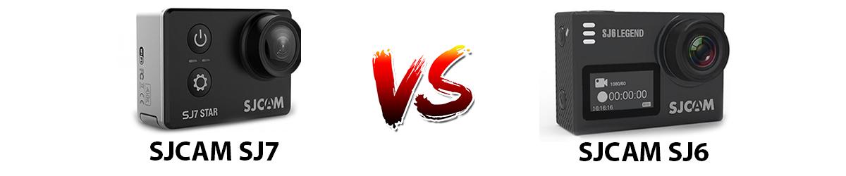 مقایسه دوربین ورزشی sjcam sj7 و دوربین ورزشی SJCAM SJ6 Legend