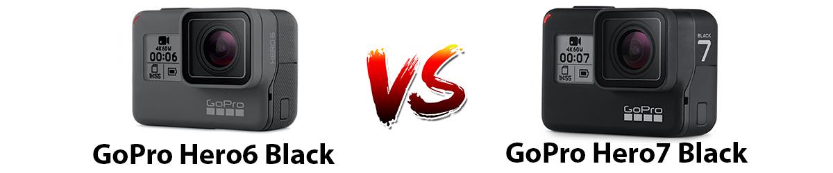مقایسه دوربین ورزشی GoPro Hero6 Black و دوربین ورزشی GoPro Hero7 Black