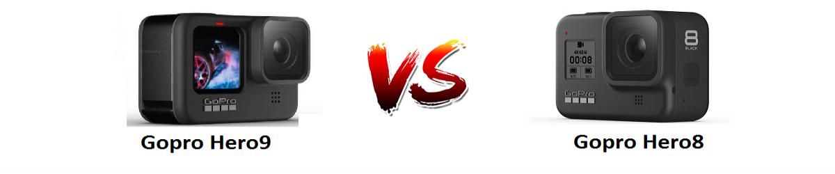 مقایسه دوربین ورزشی GoPro Hero8 و دوربین ورزشی GoPro Hero9