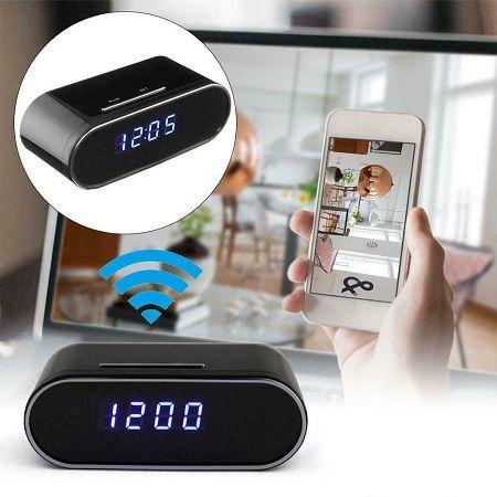 ساعت رومیزی دوربین دار با قابلیت WIFI (مخفی و وایرلس)