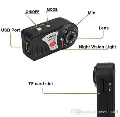 دوربین کوچک مینی دی وی Mini Dv Q7 وای فای