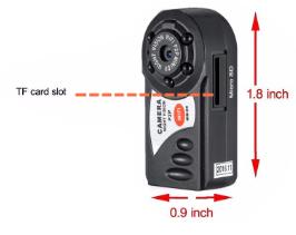 اندازه دوربین Q7 wifi