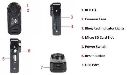 دوربین وای فای کوچک md 81s-6