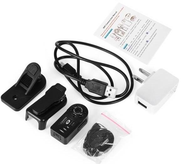 محتویات داخل بسته دوربین Q7 Wifi Mini Dv