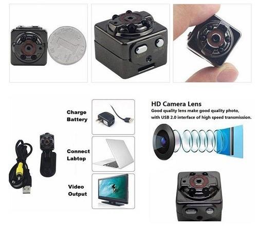 ویژگی دوربین ریز و مخفی SQ8 مینی