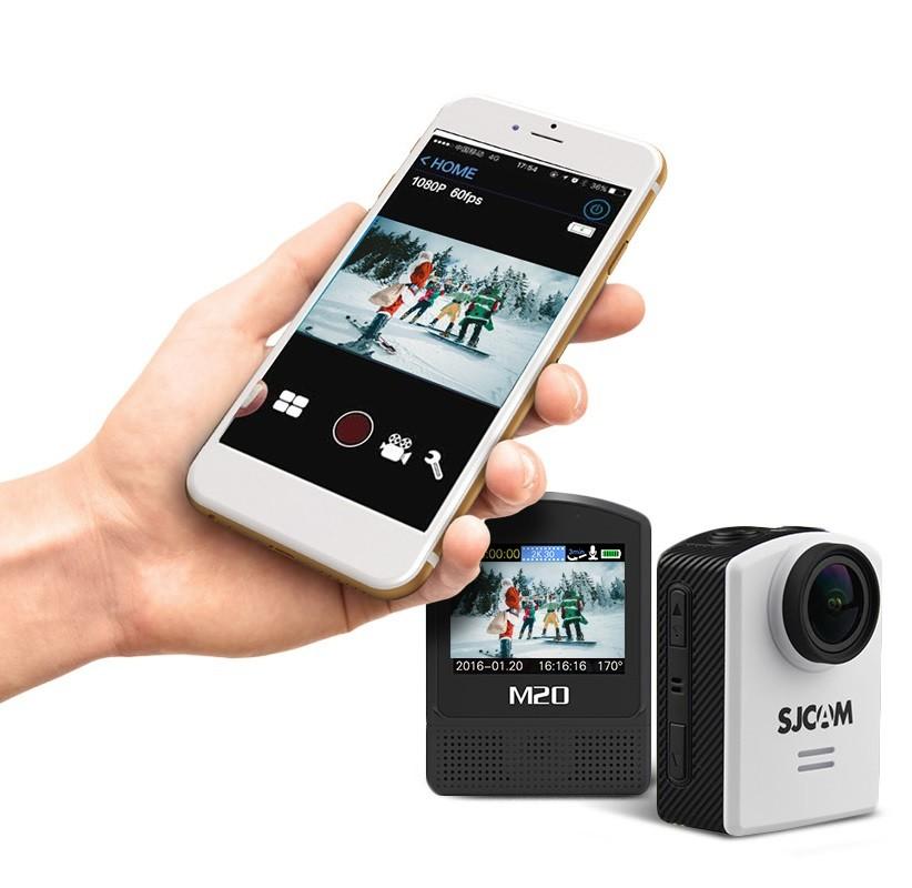 اتصال به گوشی دوربین ورزشی sjcam m20