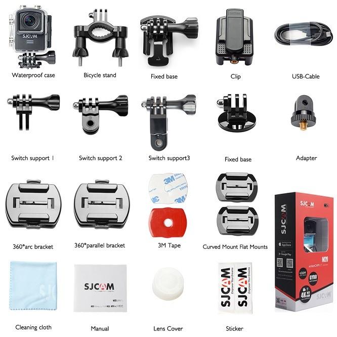 محتویات داخل بسته دوربین ورزشی اکشن SJcam m20