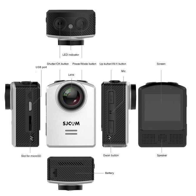 راهنمای استفاده از دوربین ورزشی m20