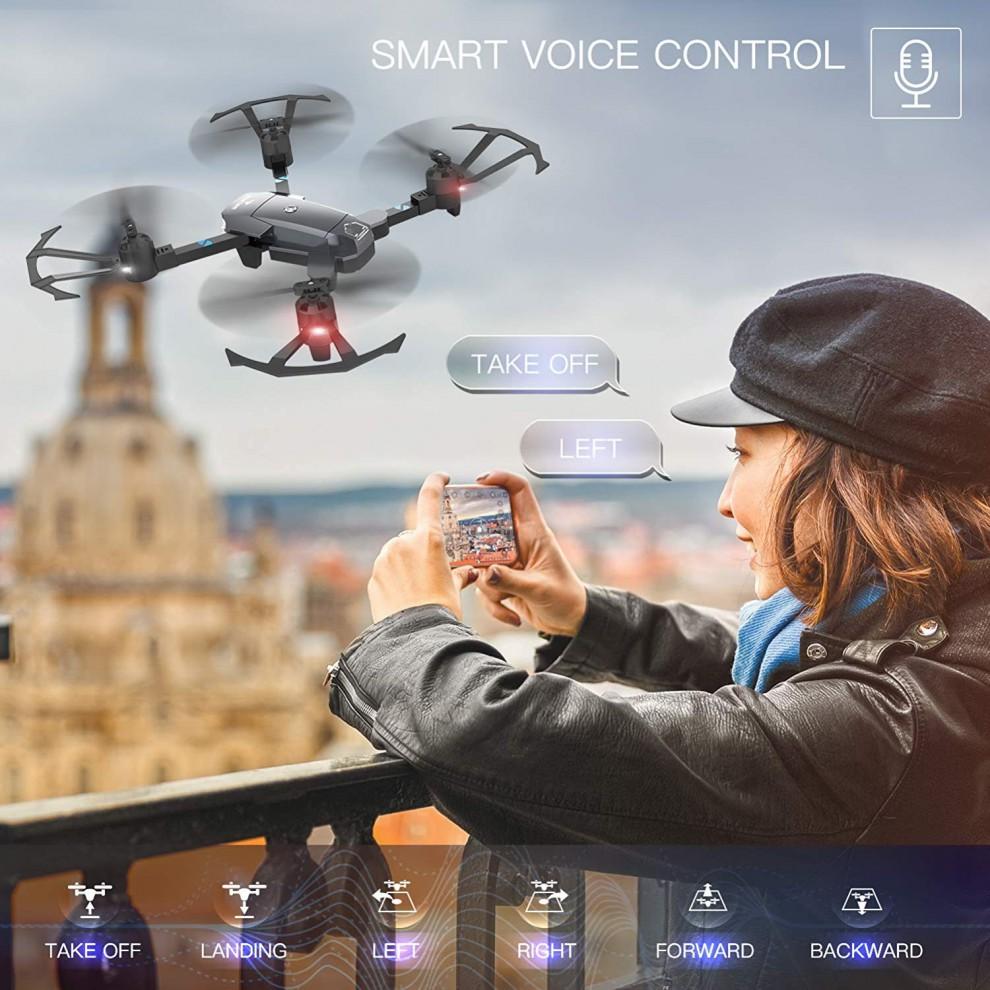 کوادکوپتر مدل SNAPTAIN A15 با قابلیت کنترل با صدا