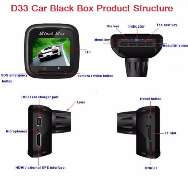 دوربین خودرو D33 یک دوربین خودرو با لنز ورزشی ، استفاده بسیار ساده و آسان محصول جدید مینی دی وی پرو