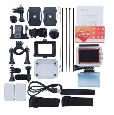 محتویات داخل بسته دوربین ورزشی sj360