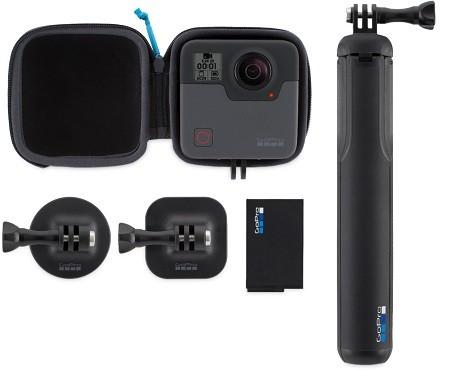 محتویات داخل بسته دوربین ورزشی gorpo fusion 360