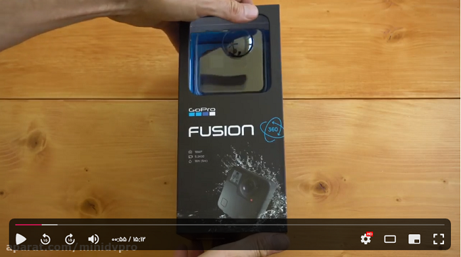 راهنمای استفاده از دوربین گوپرو fusion 360 درجه