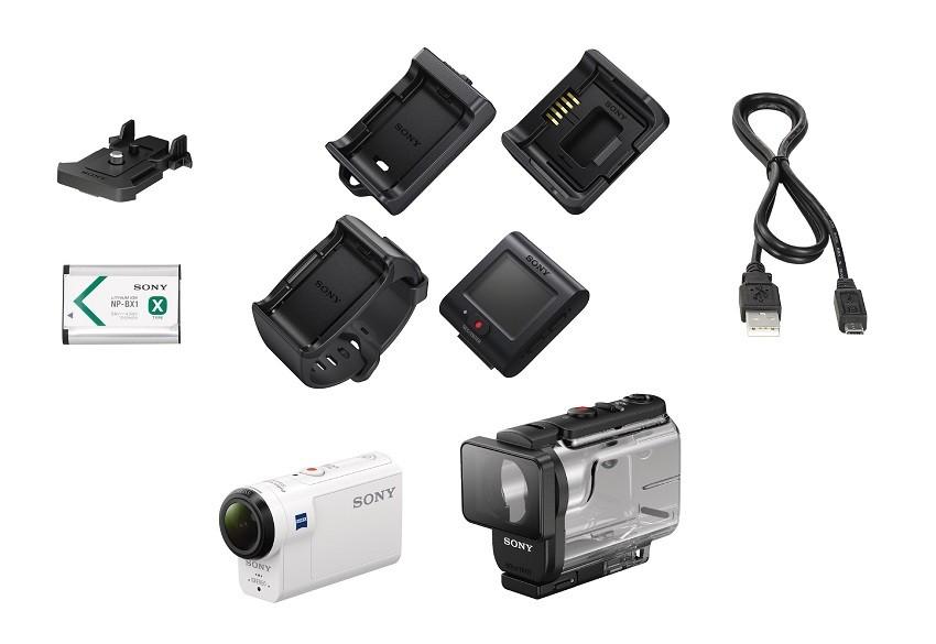 داخل بسته دوربین سونی HDR-as300