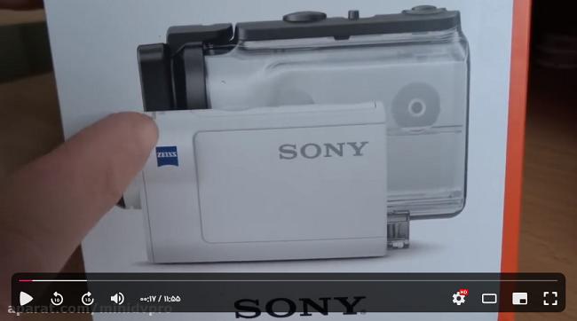راهنمای استفاده از دوربین ورزشی sony hdr as300