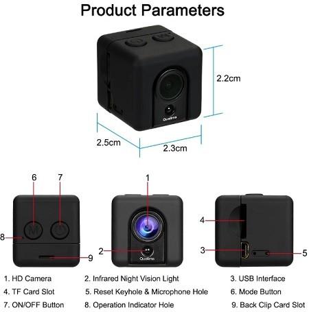 راهنمای دوربین مخفی و کوچک SQ20