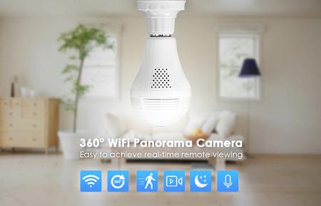 دوربین لامپی مداربسته مخفی وای فای