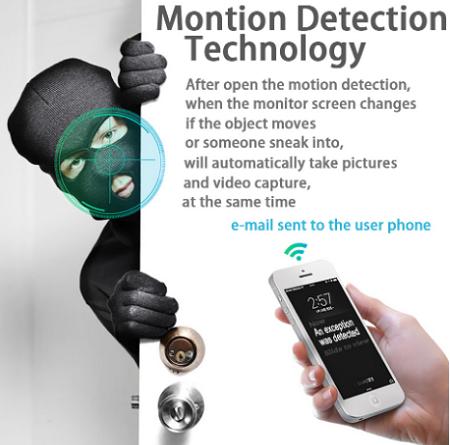 تشخیص حرکت دوربین لامپی مخفی