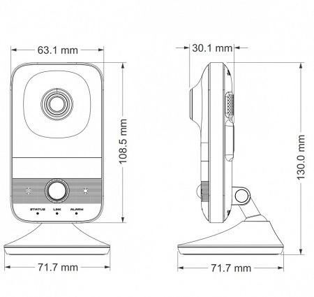 مشخصات دوربین مداربسته کیوب tvt c12
