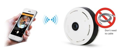 دوربین کوچک و مخفی بیسیم v380 فیلمبرداری مخفی و ۳۶۰ درجه