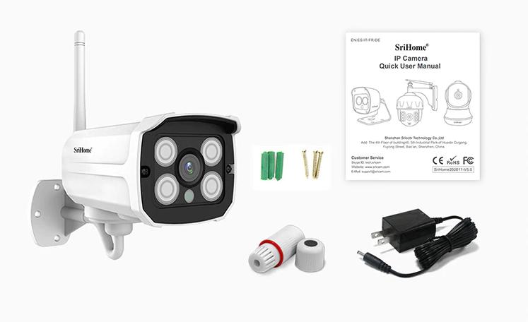 محتویات داخل بسته دوربین مداربسته wifi رم خور